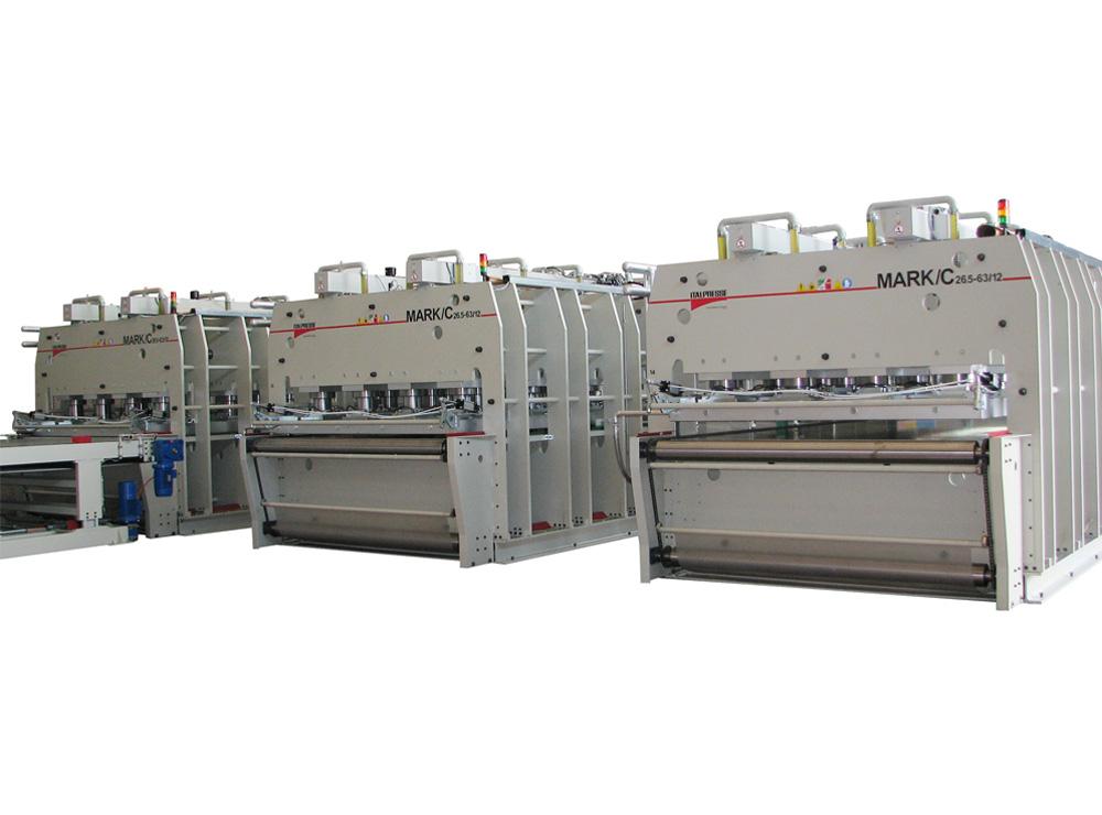 Linea automatica MARK per produzione pannelli multistrato
